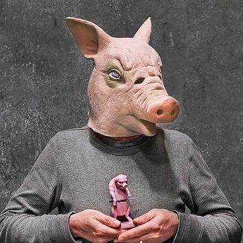 Pig Head Latex Mask for Pig Head Masquerade Parties