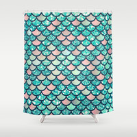Mermaid Dream Shower Curtain by Printapix