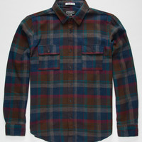 Ezekiel Hiker Mens Flannel Shirt Chocolate  In Sizes