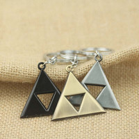 The Legend of Zelda Keychain Power Triforce Keyring