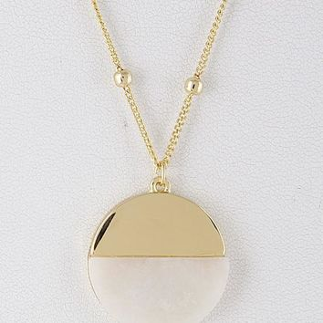 Two World Circle Long Necklace