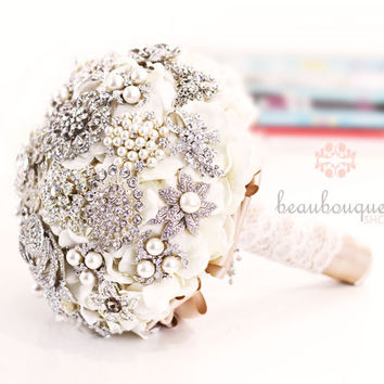 Bridal Bouquet DEPOSIT Wedding Bouquet Decoration Jeweled Brooches Large Size