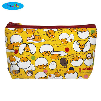 NEW! Gudetama Makeup Bag-Sanrio Zipper Bag-Lazy Egg Zipper Pouch-Food Cosmetic Case