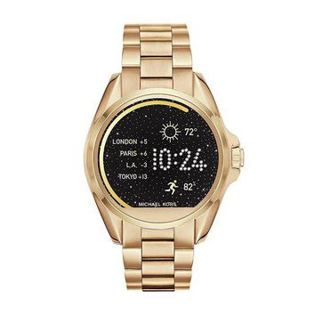VONE7JZ Michael Kors Access Unisex 45mm Goldtone Bradshaw Touchscreen Smart Watch