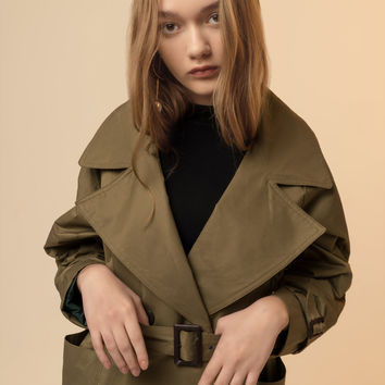 Oversized Wrap Trench Coat