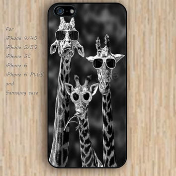 iPhone 5s 6 case cartoon giraffe funny glasses Dream colorful phone case iphone case,ipod case,samsung galaxy case available plastic rubber case waterproof B484