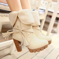 ICIK0OQ On Sale Hot Deal High Heel Winter Plus Size Boots [9432961354]
