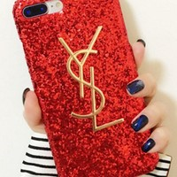 YSL The water drill sparkles phone case shell  for iphone5/5s, iphone 6/6s,iphone 6p/ 6splus,iphone 7, iphone7plus
