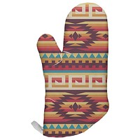 Native American Pattern All Over Oven Mitt
