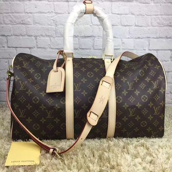 cc DCCK leather louis vuitton luggage 55 CM