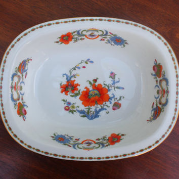 "Raynaud Ceralene Limoges Vieux Chine 9"" Oval Vegetable Serving Bowl"