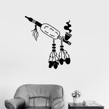 Vinyl Wall Decal Tobacco Pipe Weed Smoking Smoke Marijuana Stickers (ig3215)