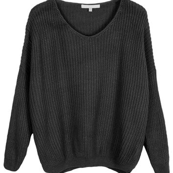 LE3NO Womens Oversized Long Sleeve Soft Knit Pullover Sweater