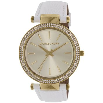 Michael Kors Women's Darci MK2391 White Stainless-Steel Quartz Fashion Watch