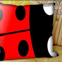 Ladybug - Pillow Cover and Pillow Case.