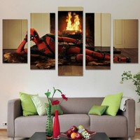 Marvel Comics Deadpool Character modeling Wall Art on canvas room decoration