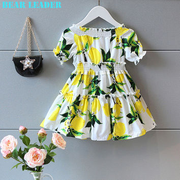 Bear Leader - Lemon Square Dance Dress