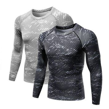 CREYLD1 Balight Men Workout Fitness GYM Compression Base Layer Long Sleeve T Shirt Sports Body Building Running Tops Shirts Plus Size V2