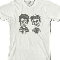 Bad Dudes : Home Alone : The Wet Bandits-Unisex White T-Shirt