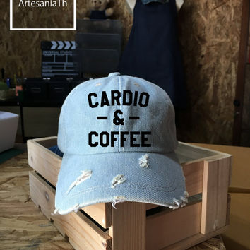 Baseball Cap Coffee Hat, Denim Cap, Jean Cap, Funny Cap, Girlfriend gift, Low-Profile Baseball, Cap Baseball Hat