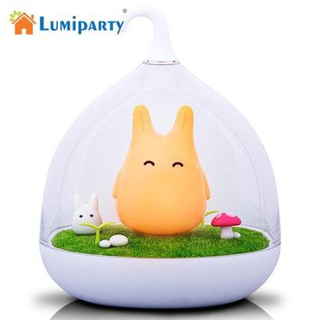 Lumiparty 2017 hot  LED Desk Lamp  3 Modes Baby Bedside Rechargeable Adjustable Touch Sensor Birdcage USB LED Night Light