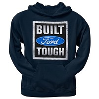 Ford - Built Tough Stamp Pullover Blue Hoodie