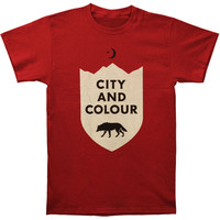 City And Colour Men's  Wolf T-shirt Cardinal