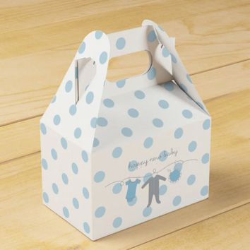 Welcome Baby B&G- Happy New Baby Gable Box White Favor Boxes