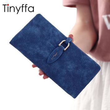 Tinyffa Brand Woman Wallet Female Purse Women Credit Card Holder For Phone Coin Purse Clutch Organizer Leather Ladies Walet Long