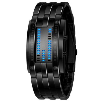 Stainless Steel Date Digital LED Sport Watches