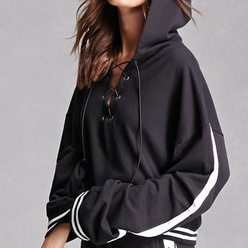 Private Academy Lace-Up Hoodie