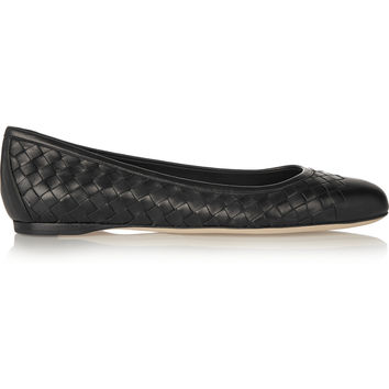Bottega Veneta - Intrecciato leather ballet flats