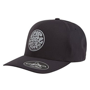 Rip Curl Mens Rubber Soul Delta Flexfit Hat One Size Black