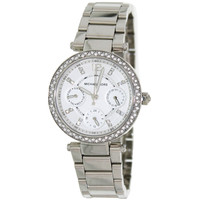 Michael Kors MK5615 Women's Parker Multi-Function White Dial Stainless Steel Watch