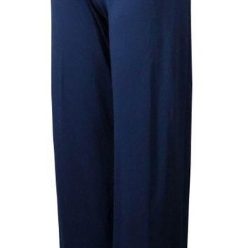 Lauren Ralph Lauren Women's Wide Leg Lace Up Jersey Pants