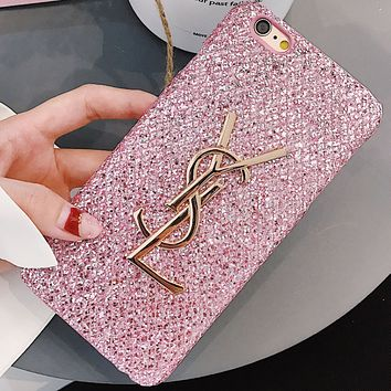 YSL Yves Saint Laurent Women's Stylish iPhone Case Cover Pink