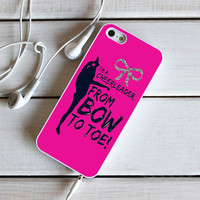 Bow to toe cheer iPhone 5C Case Sintawaty.com