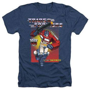 Transformers Heather T-Shirt Optimus Prime Navy Tee