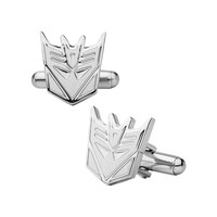 Transformers Decepticon Stainless Steel Cuff Links (Grey)