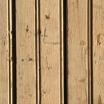 Vintage Light Brown Beadboard
