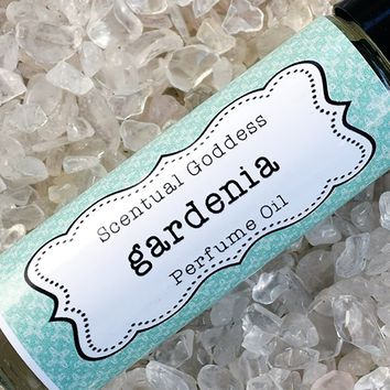 GARDENIA Perfume Oil - Hawaiian White Floral Scented Roller Ball Body Oil