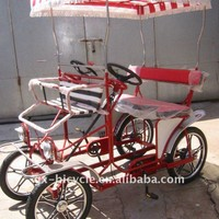 "16""/17"" Red Surrey Bike - Buy 16"" 4 Wheels Surrey Bicycle,Four Wheels Surrey Cycling,Four People Ride Surrey Bike Product on Alibaba.com"