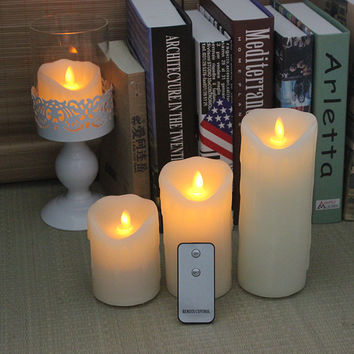 Remote control swing electronic candle high artificial night lights wedding candle
