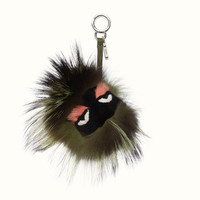 FENDI | KOOKY BAG BUG in green-tone fur