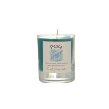 Peace Soy Glass Votive Candle