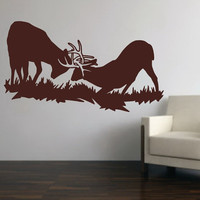 Wall Decal Buck Deer Fighting Style F Vinyl Wall Decal 22331