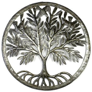 Tree of Life in Ring Metal Wall Art