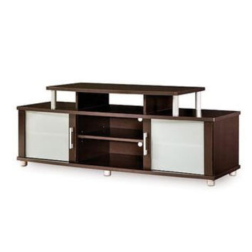 Modern Espresso TV Stand for TVs up to 50 inches