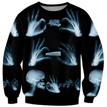 New Unisex Gothic punk Hipster Long Sleeves Sweatshirt Crew Neck Sweater = 1920490052