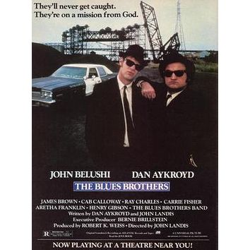 Blues Brothers The Movie poster Metal Sign Wall Art 8in x 12in